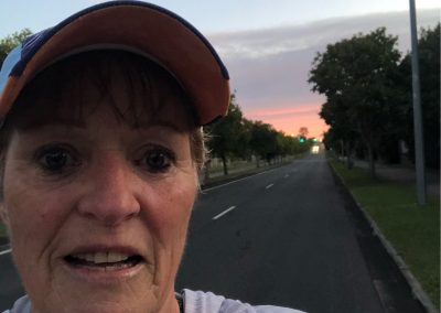 OLIVE KING SNAP SEND SOLVE Out this morning at 5.20 am to get 11.11 km done and yesterday's 4 km with my granddaughter Maddy who is 4. 1