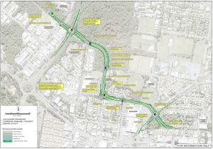 Caloundra Transport Corridor Upgrade Project Concept layout