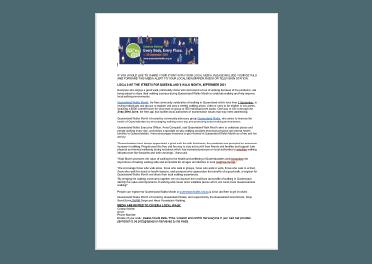 Queensland Walks Month 2021 Media Template