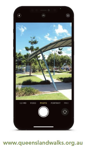Photo of smart phone used to capture shading structure